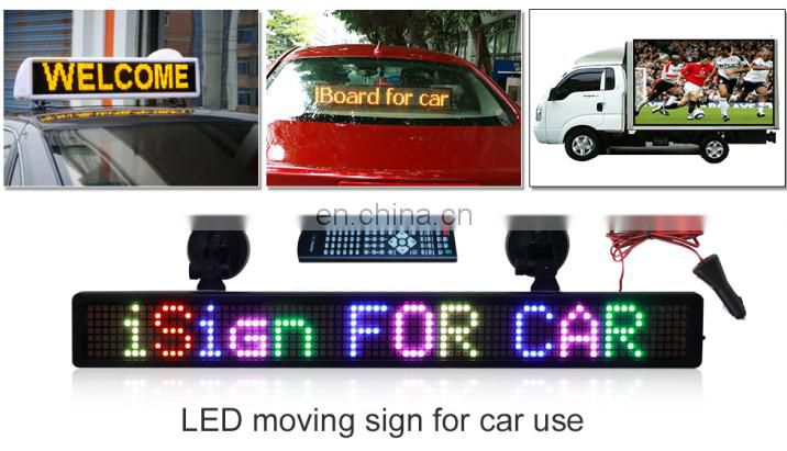 Wholesale P7.62 mm RGB color message scrolling led car display