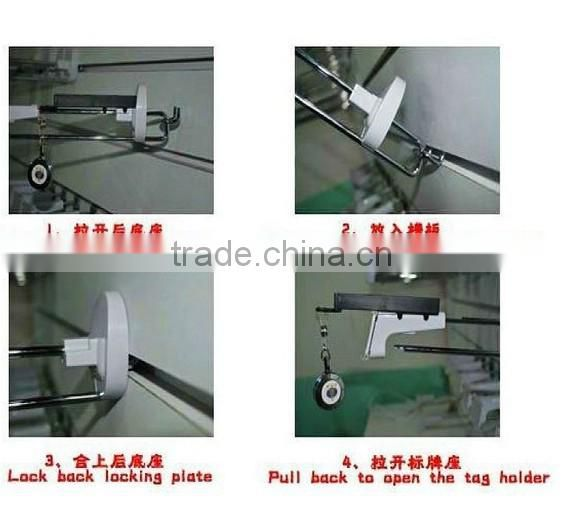 Slatwall or Pegboard Locking Security Display Hooks,Locking security hook,Locking security hook for slatwall