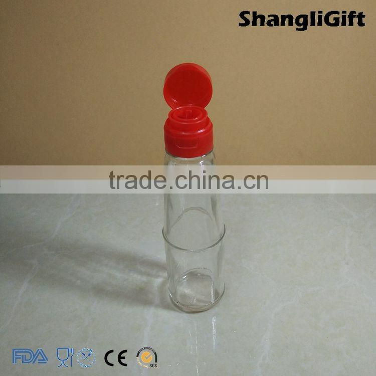 120ml soy bean sauce glass bottle with flip top lid