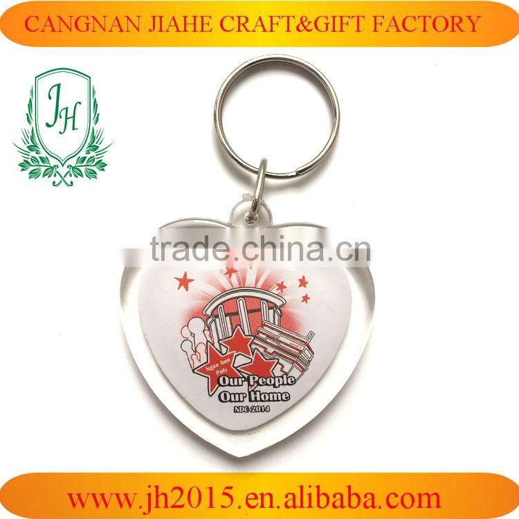 Customized OEM Promotional Plastic Acrylic blank keychain/picture photo PS key chain/keyring