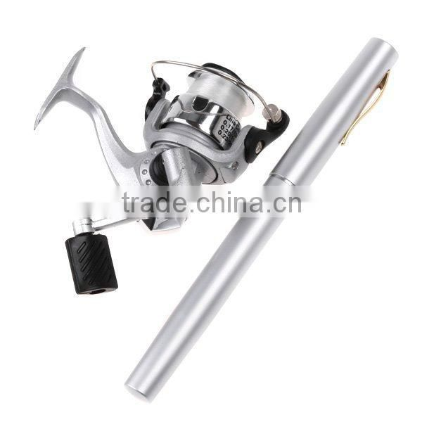 Fishing Rod Mini Aluminum Alloy Fishing Tackle Fishing Rods and Reel