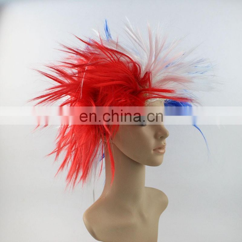 2016 women crazy fans national flag wig