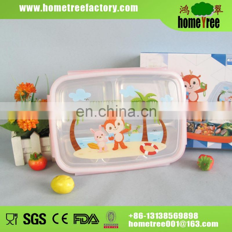 Eco-friendly Stainless Steel Bento Lunch Box For Children