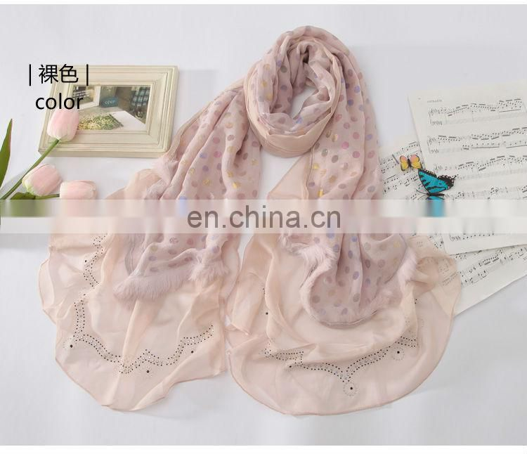 Wholesale Fashion Nice Women 100% Polyester Scarf,W3022