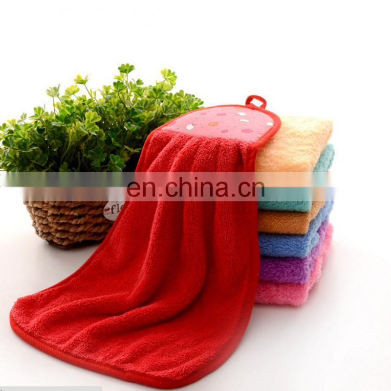 Wholesale Excellent Absorption Coral Fleece Microfiber Kitchen Towel