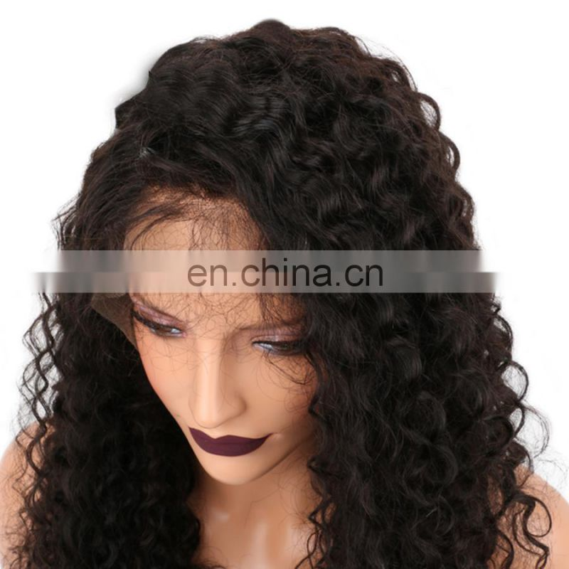 2017 hot sale brazilian hair natural hair wigs lace front human hair wig for black women
