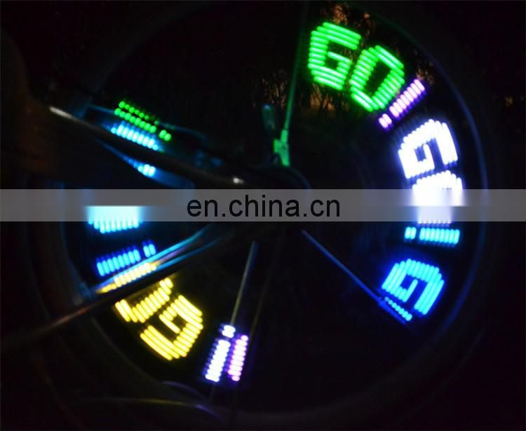 super bright bicycle led programmable wheel light bike spoke light/programme bike light