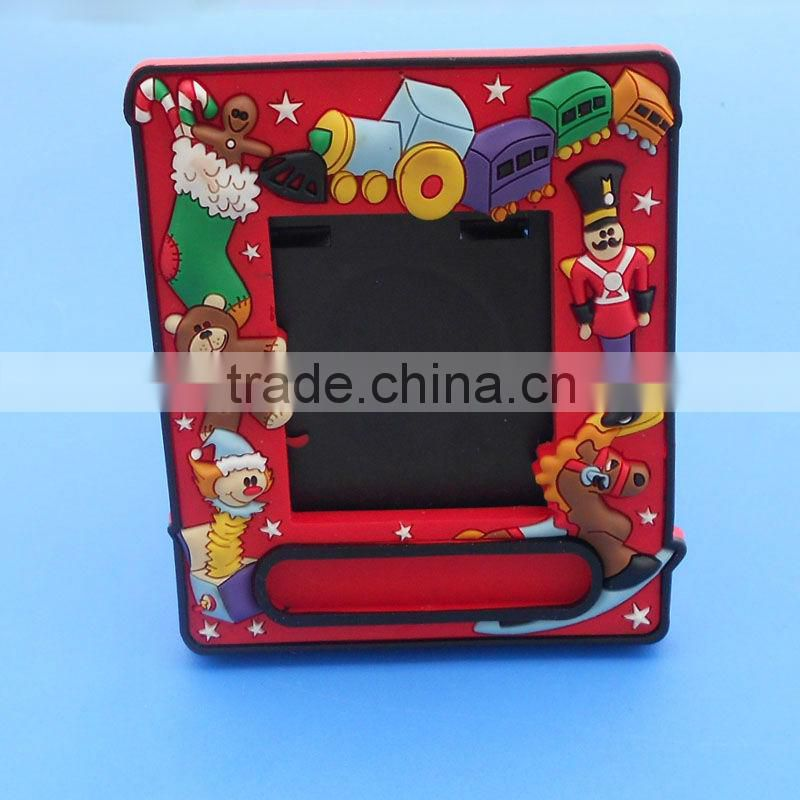 Custom 3d soft pvc photo frames for Christmas promotional gift