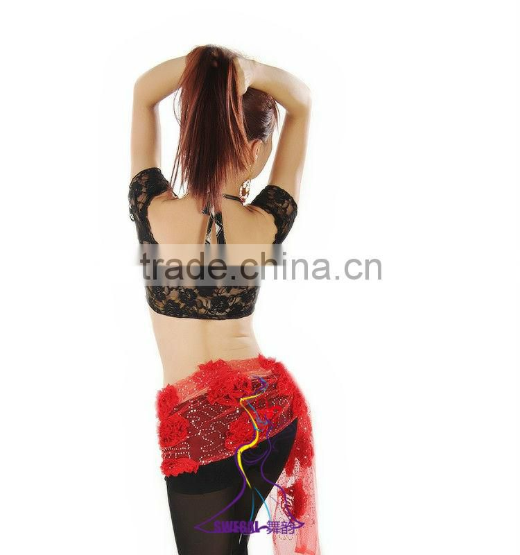 SWEGAL belly dance lace training top,dance transparency top B13060