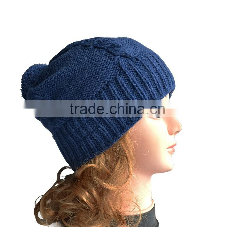 Beanie Winter Hat Type and Knitted,Acrylic Beanie Pattern Selling Hats Beanie