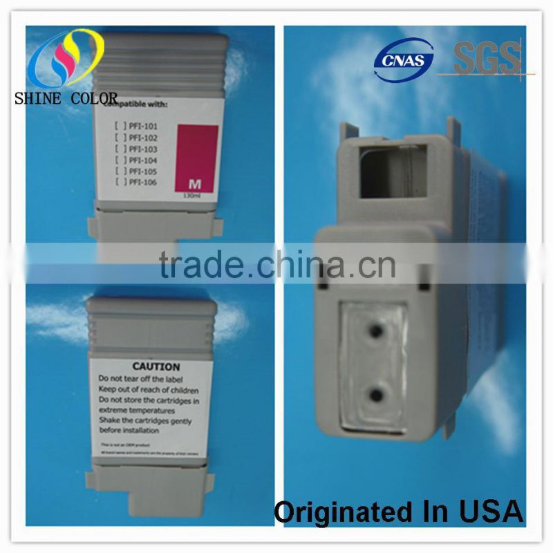 130ml compatible ink cartridge PFI-102 for canon ipf 500 510 600 605 610 650 655 700 710 750 755 not OEM