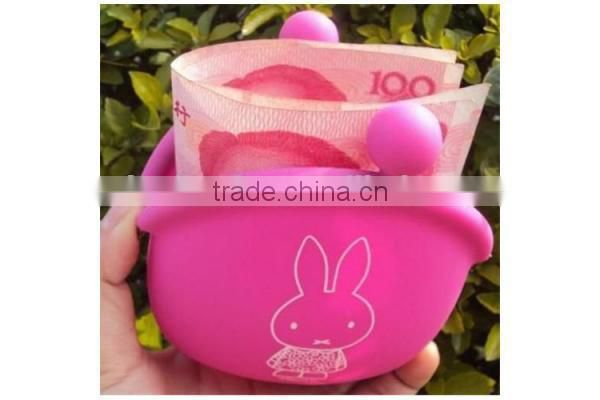 kids gift bear shape silicone purse