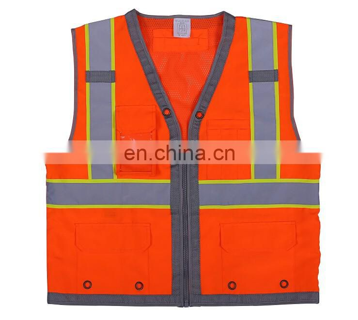 Polyester reflective safety vest with different design custom
