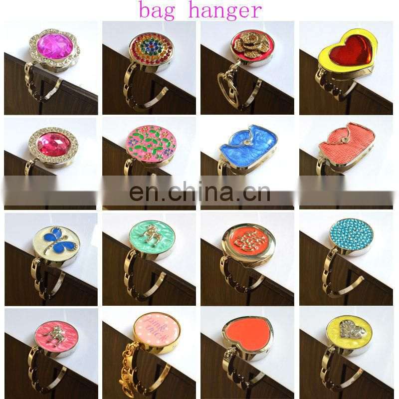 Fashion cheap metal foldable bag hanger table hook