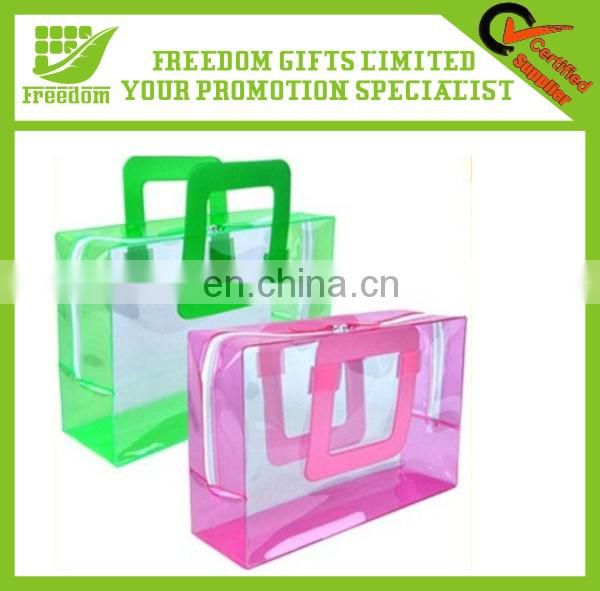 Printing Logo Promotional Items PVC Transparent Plastic Bag