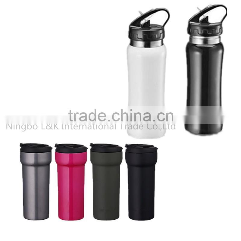 Promotional 350ml customized stainless steel bottle/travel bottle/baby bottle