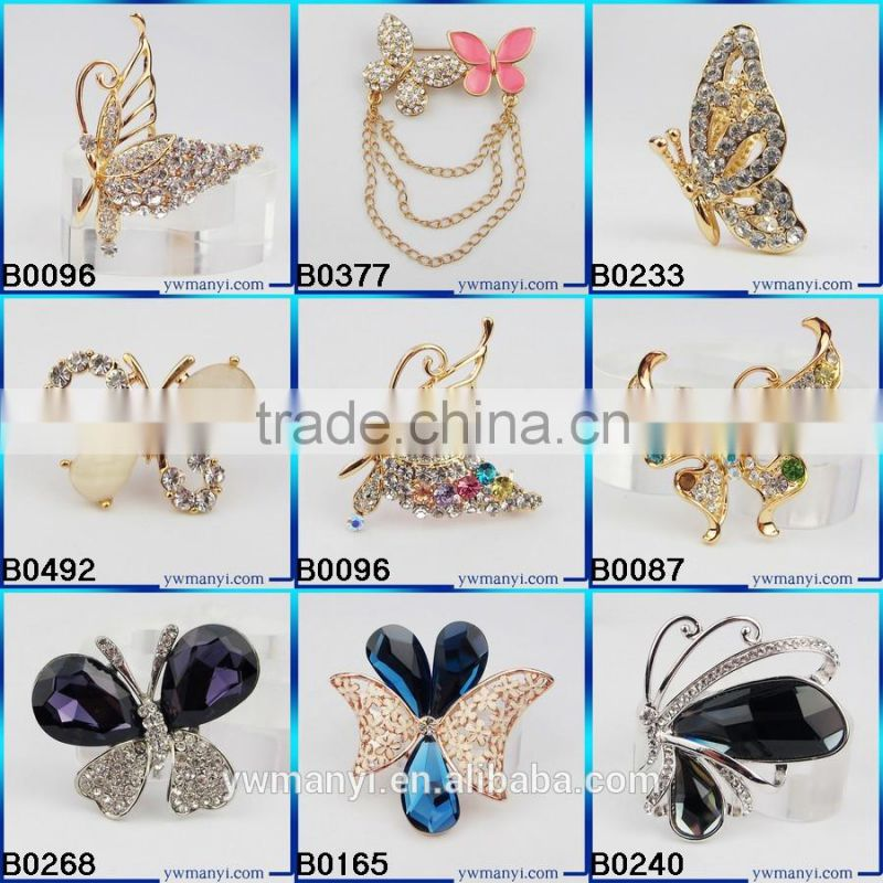 Big Size Brooch Fashion Accessories Small Flower Clusters Leaf Resin Rhinestone Brooch Pin B0263