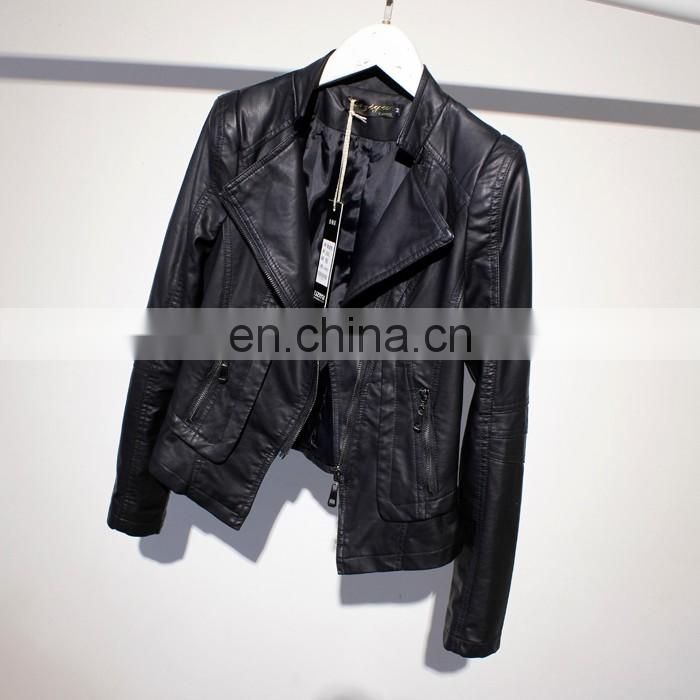 Winter Genuine Leather Jacket Bolero Imitation Leather Jacket bomerJacket Blazer biker pu jacket