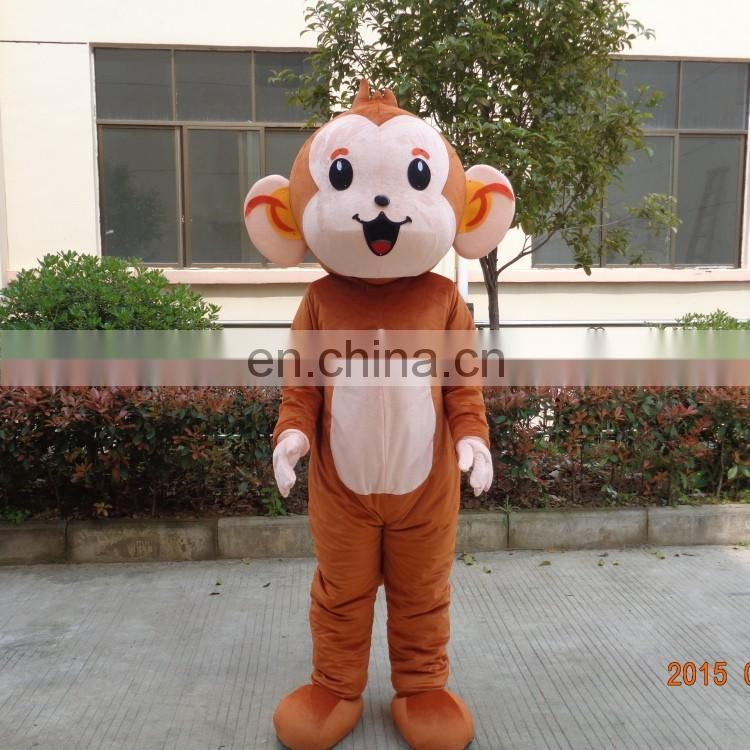 Crazy sale fast deliver curious george mascot costume