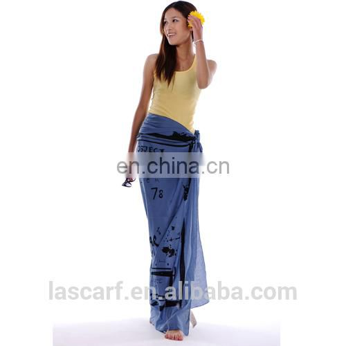 100%cotton material printed sarong pareo