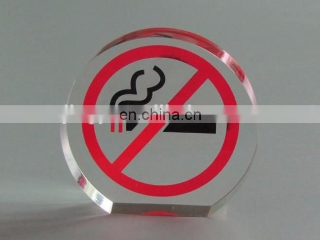 square white acrylic sign holder folding acrylic no smoking sign