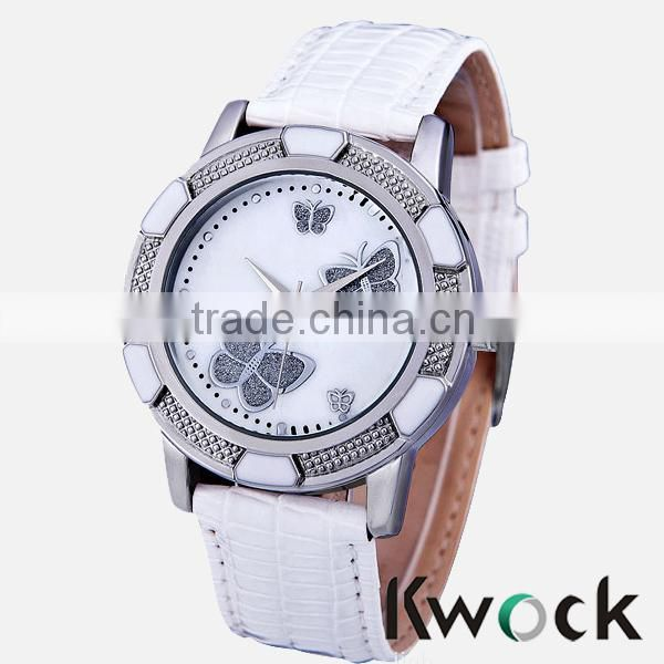 New Arrival Fashion leather GENEVA Watch Women Casual Watch geneva platinum watch japanese movement