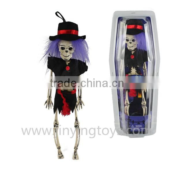 Hot sale halloween bendable skeleton toys skull promotional toy gift