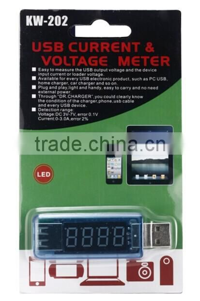 2014 New KW-202 mini USB Voltage Tester/ Power Detector Voltage Current Meter