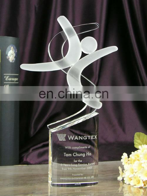 crystal engarve star trophy