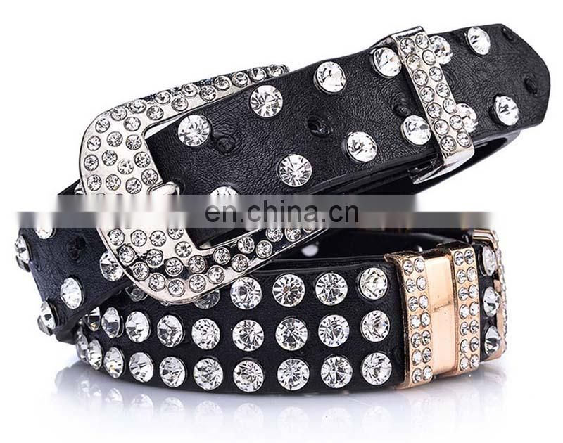 woman ladies trendy diamond waist belt match jeans