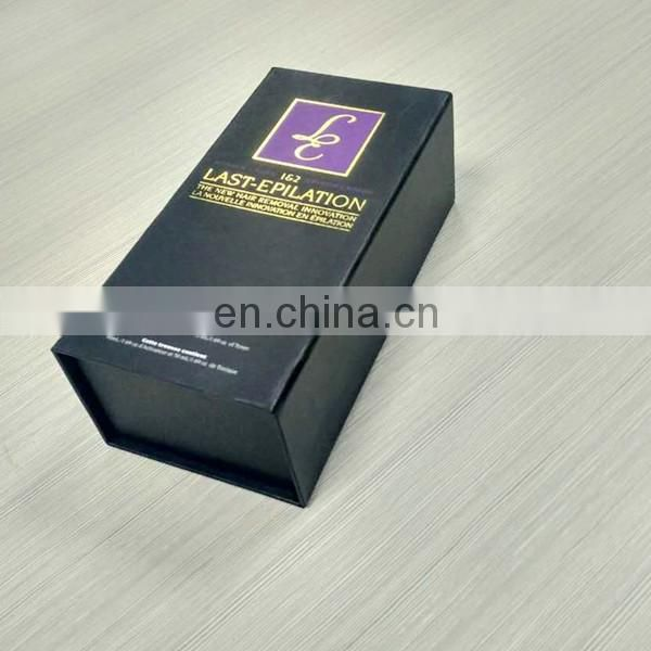 2017 Hot sale luxury cardboard book box with Eva Inner with custom logo