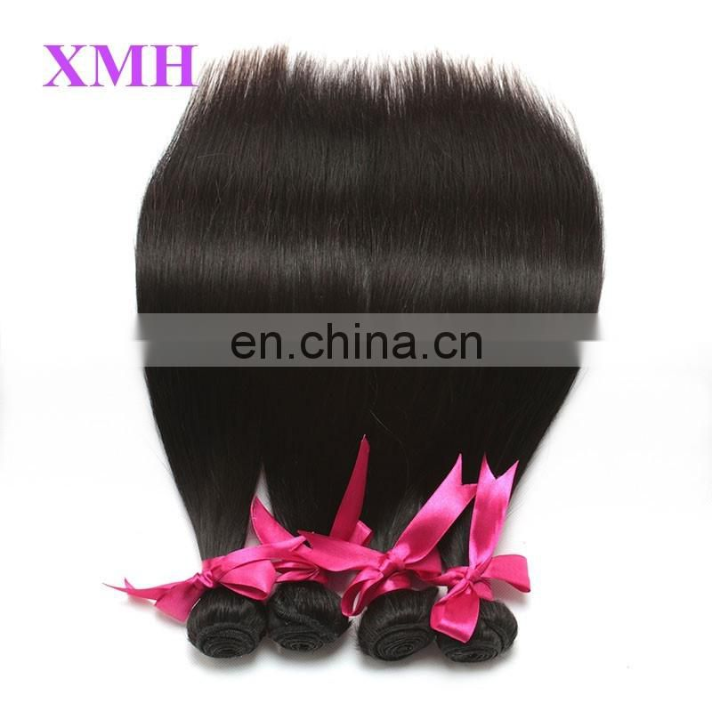 Indian Virgin Remy Hair Silky Straight Human Hair Weave Extensions