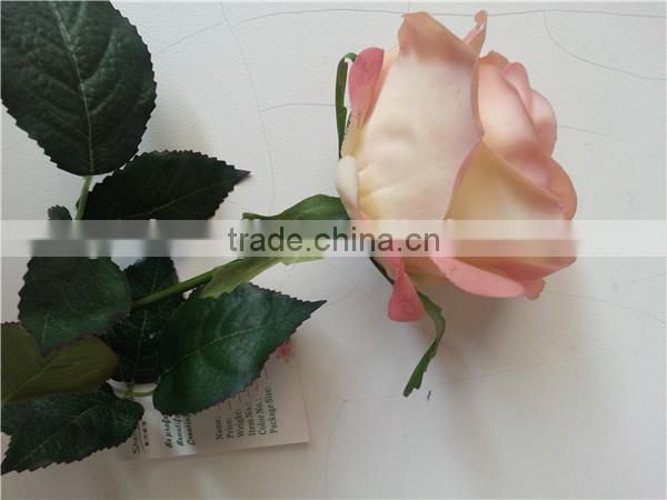making flower silk rose artificial rose artificial royal blue rose flowers