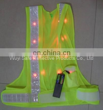 reflective glow product with hi vis meets CE safety running belt