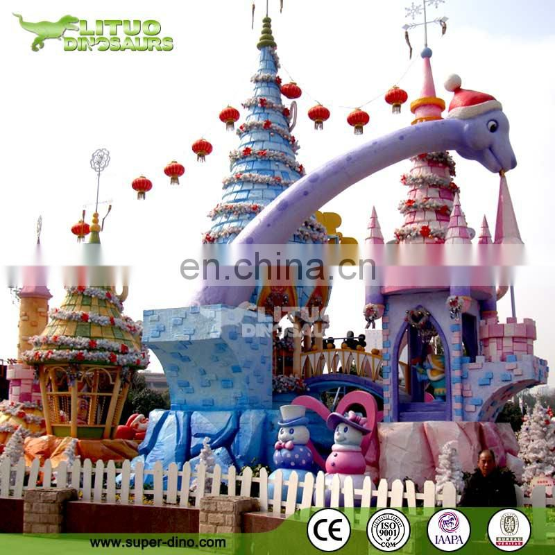 Large Fiberglass Cartoon Statues for Theme Park Main Entrance