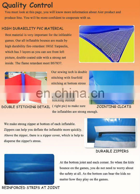 double tube inflatable pool, inflatable blue awimming pool for water park equipment