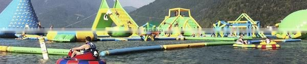 Land used water park slide / mobile amusement park for sale