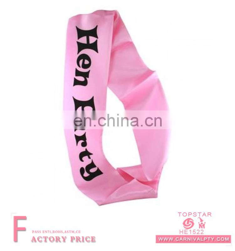 Event & Party Supplies china factory wedding birthday bridal sash