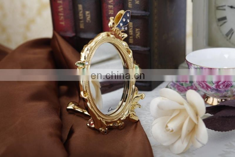 handheld makeup mirror brass makeup mirror
