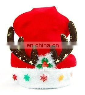 LED Deerhorn Christmas Cap