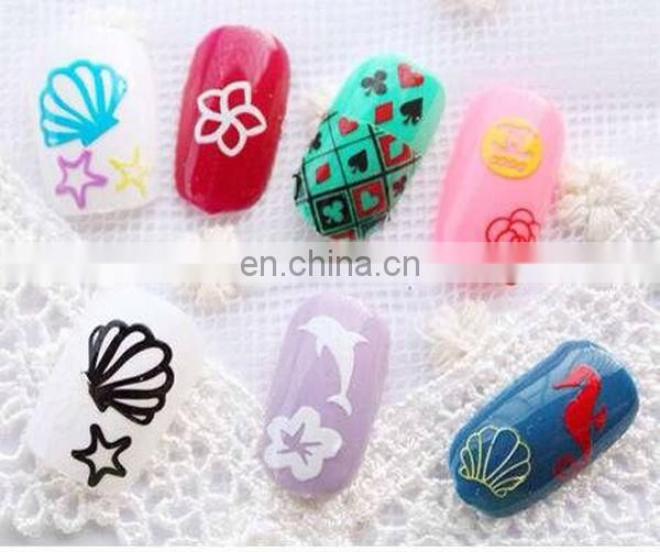 Latest cheap various 3d nail sticker nfc nail sticker