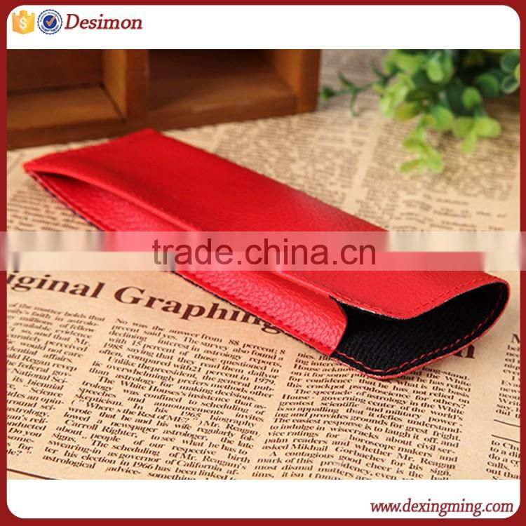 leather spectacle case / custom eyewear case leather / cute pu leather eyewear case