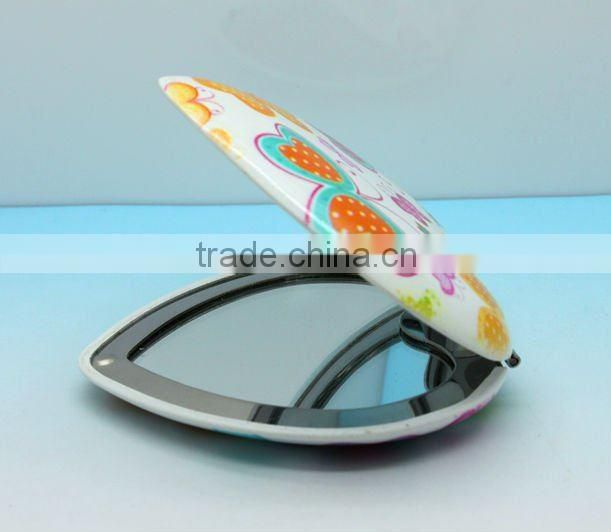 Heart Plain Printing Pcket Mirror