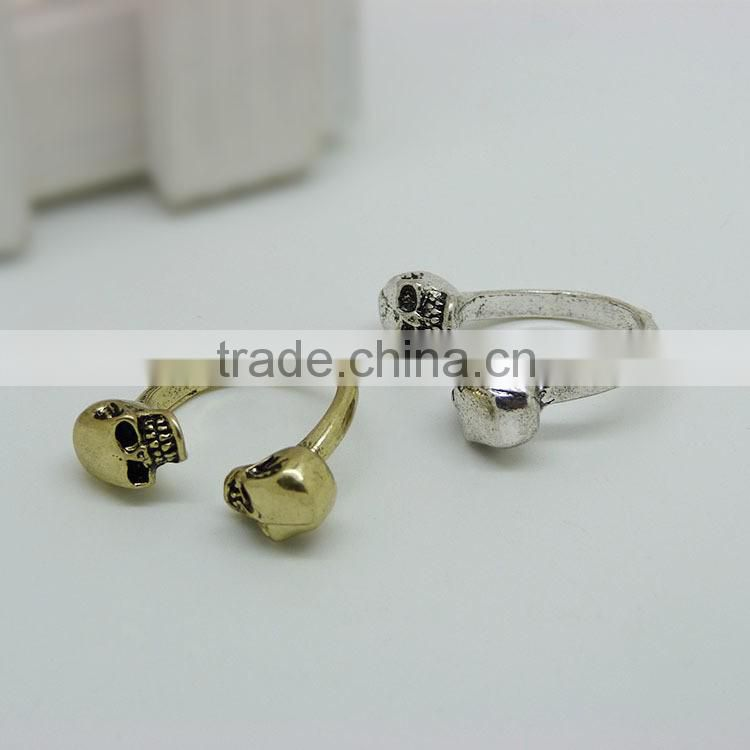 New fashion jewelry double-end human skeleton ring