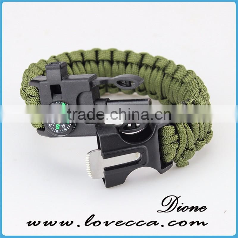 5 in 1 Survival Bracelet Custom, Veteran Paracord Bracelets, Military Bracelets