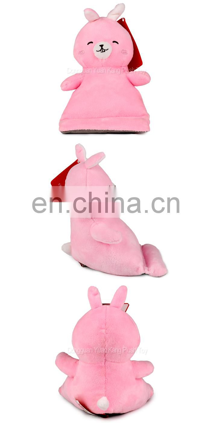 China Factory Wholesale Promotional Cute Plush Rabbit Soft Stuffed Animal Cell Phone Holder