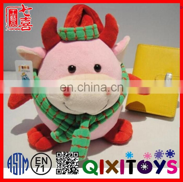 2016 hot selling animal shape stuffed piggy banks coin bank christmas decoration