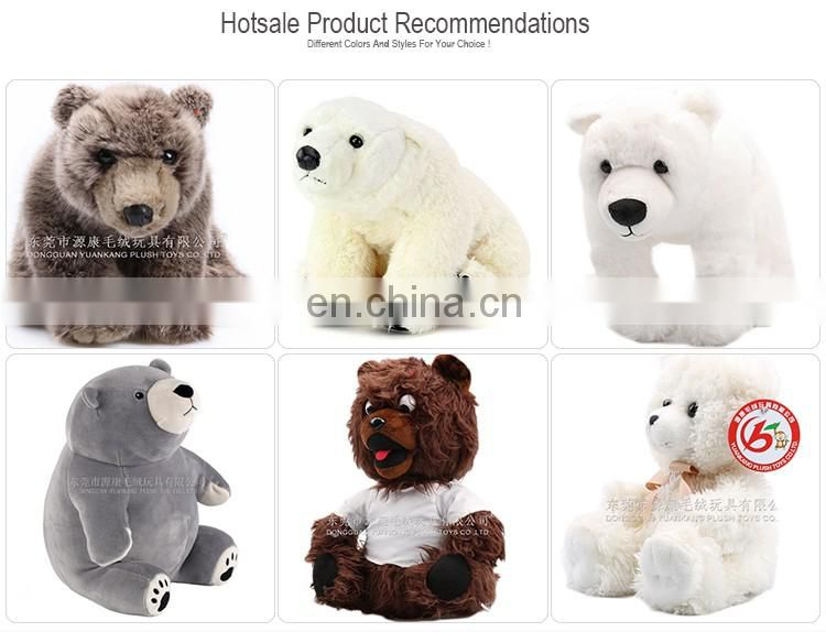 ICTI Wholesale 35cm Plush Polar Bear pp cotton stuffed animal toy