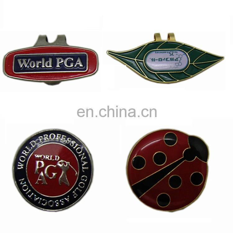 Custom design personalized metal golf hat cap clip magnetic marker