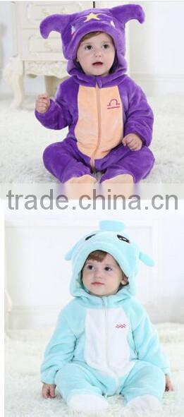 Baby Boy Girl Jumpsuit Winter Romper Coral Velvet Bear Polka Dots Clothes